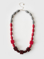 Abstract Colour Block Necklace