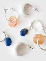 3 Pack Disc & Bead Hoop Earrings