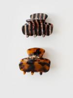 Tortoise 2 Pack Mini Hair Claws