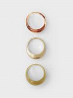 Domed 3 Pack Rings