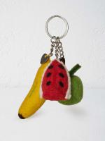 Felt Fruit Keyring