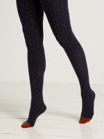 Mini Spot Contrast Toe Tights