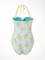 Mix Leaf Print Cupped Swimsuit