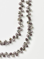 Two Tone Dressy Mossy Necklace