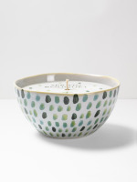 Green Dot Candle Bowl