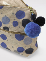 Blue Multi Spot Wash Bag
