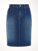 Carpenter Denim Skirt