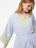 Beatrice Broidery Stripe Robe