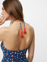 Confetti Spot V Neck Swimsuit