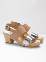 Klara Metallic Clogs