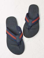 Weave Navy Flip Flop