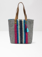 Ginny Woven Fabric Tote