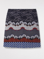 Kozu Printed Cord Skirt