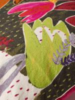 Iris Leaf Print Cushion