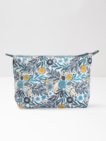 Teal Leaf Canvas Wash Bag