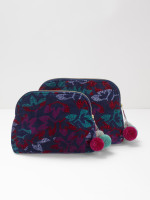 Night Leaf Velvet Wash Bag