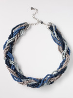 Plaited Wood Bead Necklace