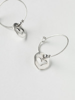Cut Out Heart Hoop Earring