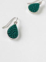 Seedbead Tear Drop Earring