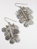 Metal Bar Cluster Earring