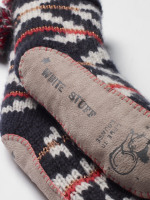 Multi Fairisle Slipper Sock