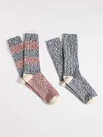 Adam slub cotton sock 2 pack