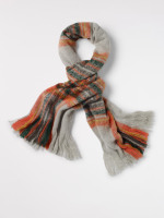 Soft Check Midweight Scarf