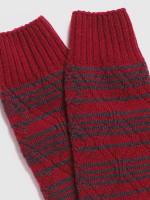 Stripey Cable Boot Sock