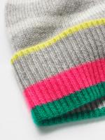 Cashmere Stripe Beanie Hat