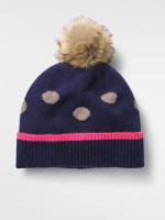 Cashmere Spot Pom Hat