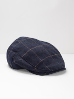 Wool Check Flat Cap