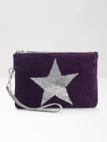 Velvet Sequin Star Pouch