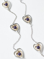 Ripple Heart Necklace