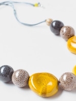 Speckled Ceramic Bead Necklace