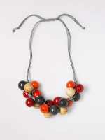 Ceramic & Wood Mixed Necklace