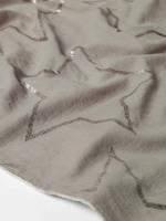 Star Foil Print Velvet Scarf