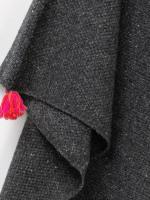 Tassel Corner Texture Poncho