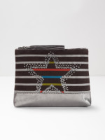 Sequin Stripe Star Make Up Bag