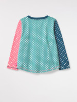 Dotty Colourblock Jersey Tee