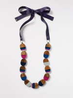 Roberta Wood & Resin Necklace