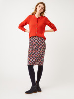 Etched Floral Jersey Skirt
