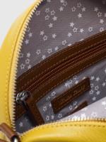 Leather Circle Crossbody Bag