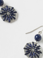 Threaded Disc Drop Earring