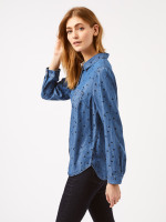 Denim Spot Print Shirt