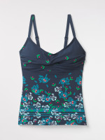 Floral Stripe Tankini Top