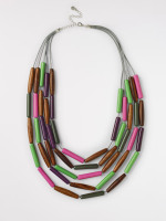 Layered Wood & Resin Necklace