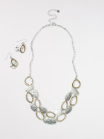 Disc Necklace & Earring Set