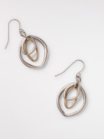 Layered Oval Drop Earring