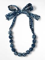 Short Fabric Bead Necklace