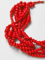Multi Plaited Bead Necklace